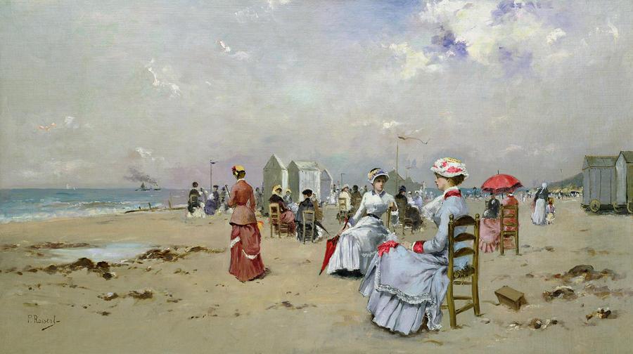 La Plage De Trouville Painting