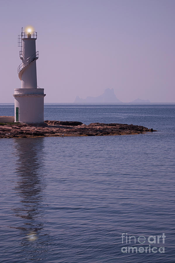 La Sabina Lighthouse Formentera And The Island Of Es Vedra Photograph  - La Sabina Lighthouse Formentera And The Island Of Es Vedra Fine Art Print