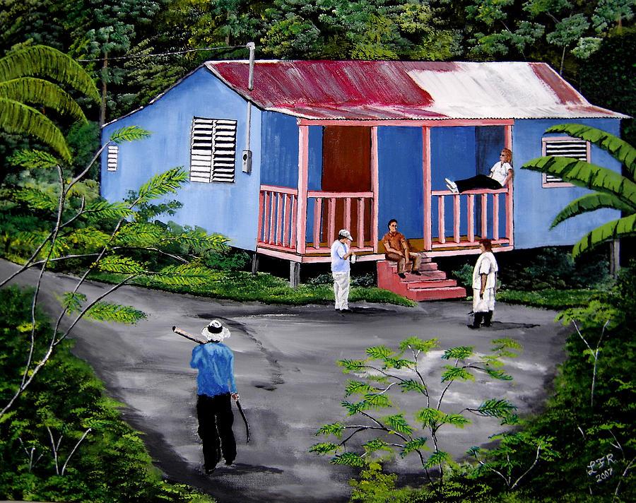La Vida En Las Montanas De Moca Painting