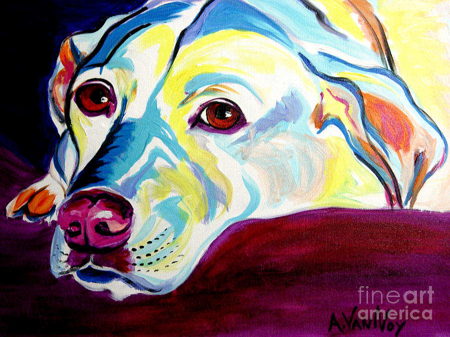 Lab - Luna Painting  - Lab - Luna Fine Art Print