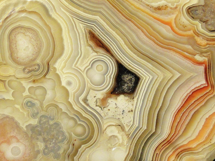 Lace Agate  Mixed Media