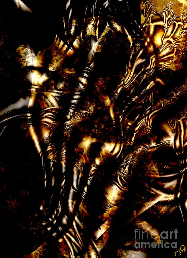 Lacquered Veins Digital Art