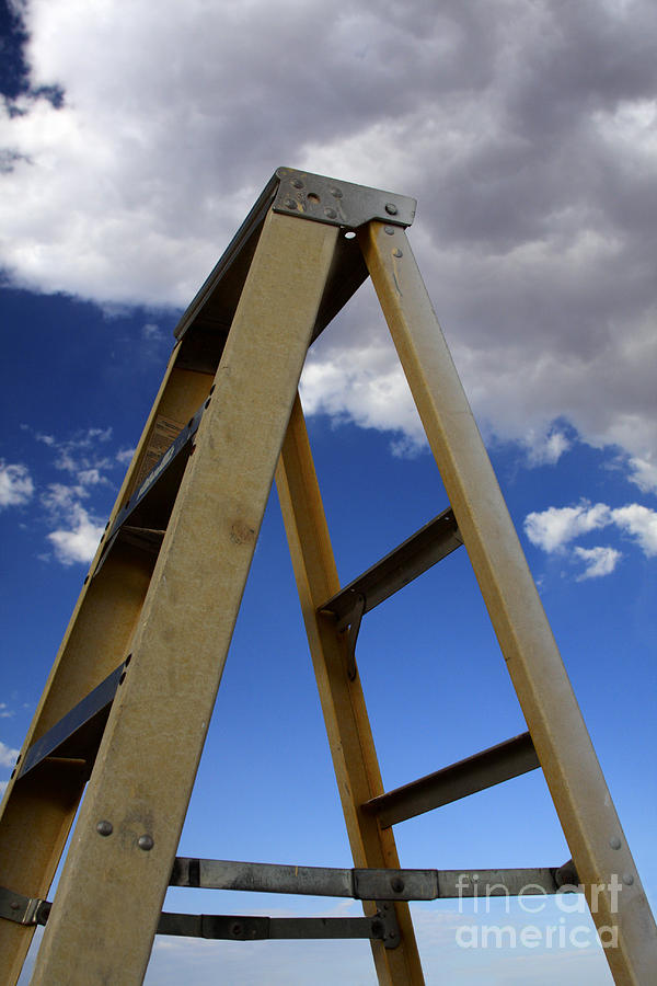 Ladder And Sky Photograph  - Ladder And Sky Fine Art Print