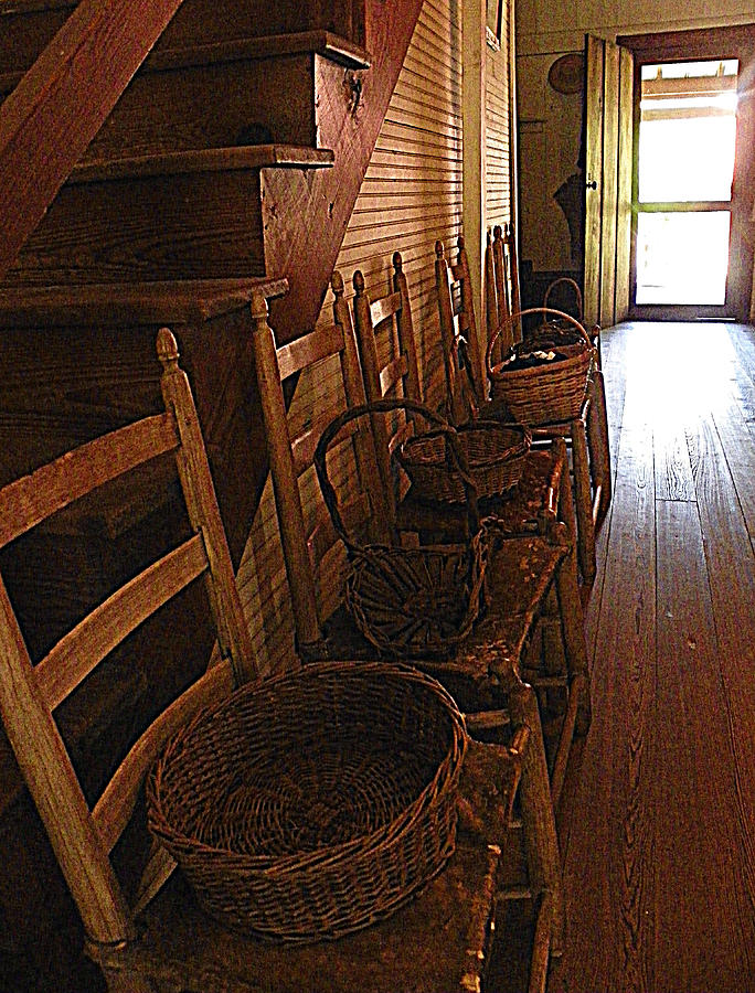 Ladder Backs And Baskets I Photograph  - Ladder Backs And Baskets I Fine Art Print