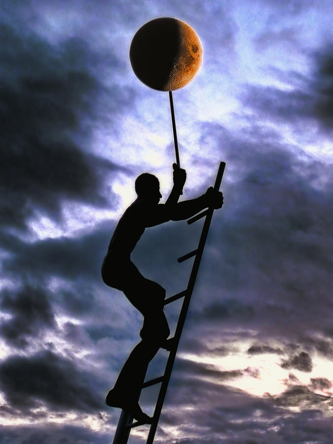 Ladder To The Moon Photograph