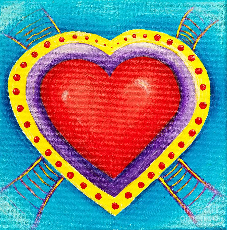 Ladders To Your Heart Painting  - Ladders To Your Heart Fine Art Print