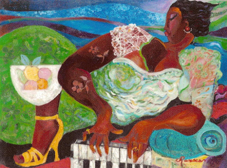Lady At The Piano Painting