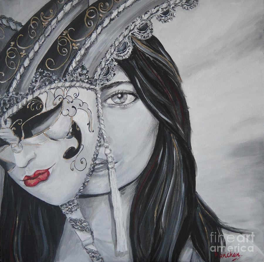 Lady Behind The Mask Painting