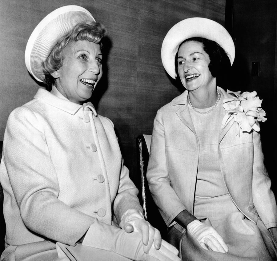 Lady Bird Johnson And Muriel Humphrey Photograph