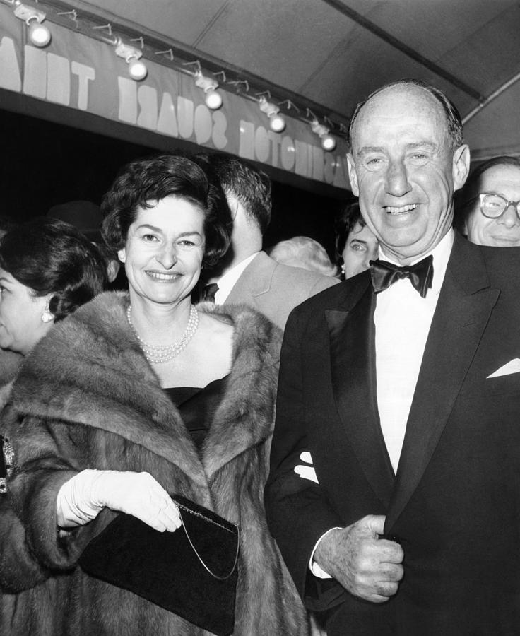 Lady Bird Johnson Arrives For Gala Photograph  - Lady Bird Johnson Arrives For Gala Fine Art Print
