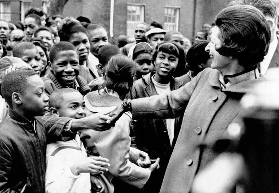 Lady Bird Johnson Greets African Photograph