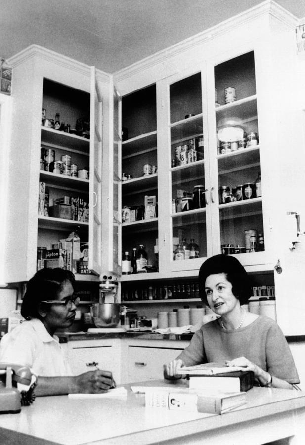Lady Bird Johnson, In The Kitchen Photograph  - Lady Bird Johnson, In The Kitchen Fine Art Print