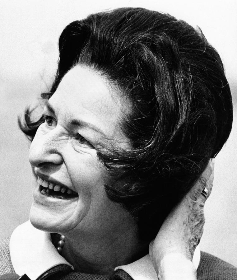 Lady Bird Johnson Smiles As The Wind Photograph