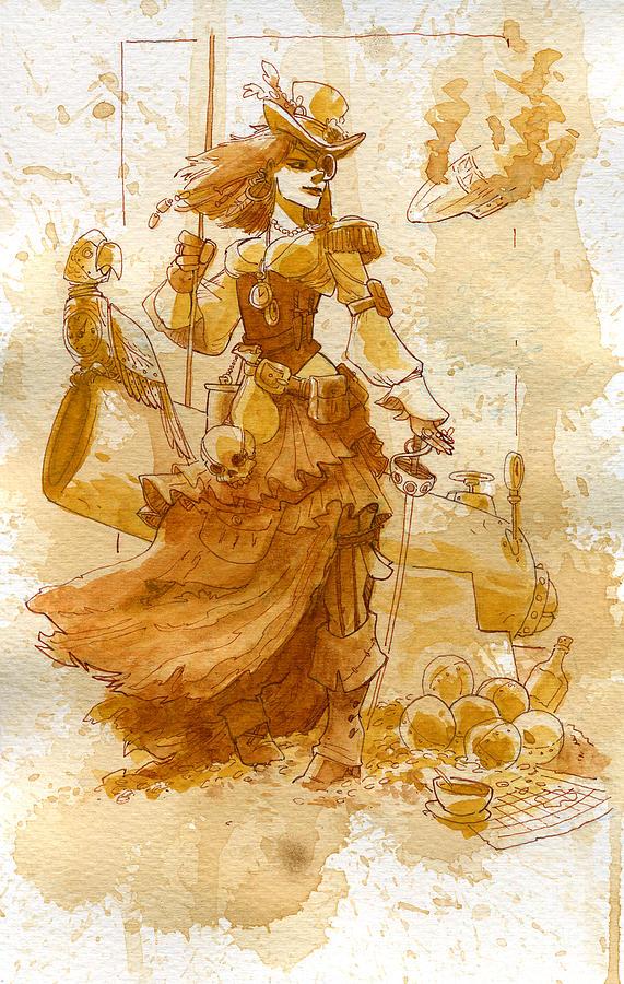 Lady Bonney Painting