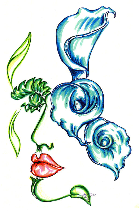 Lady Calli Lilly Drawing  - Lady Calli Lilly Fine Art Print