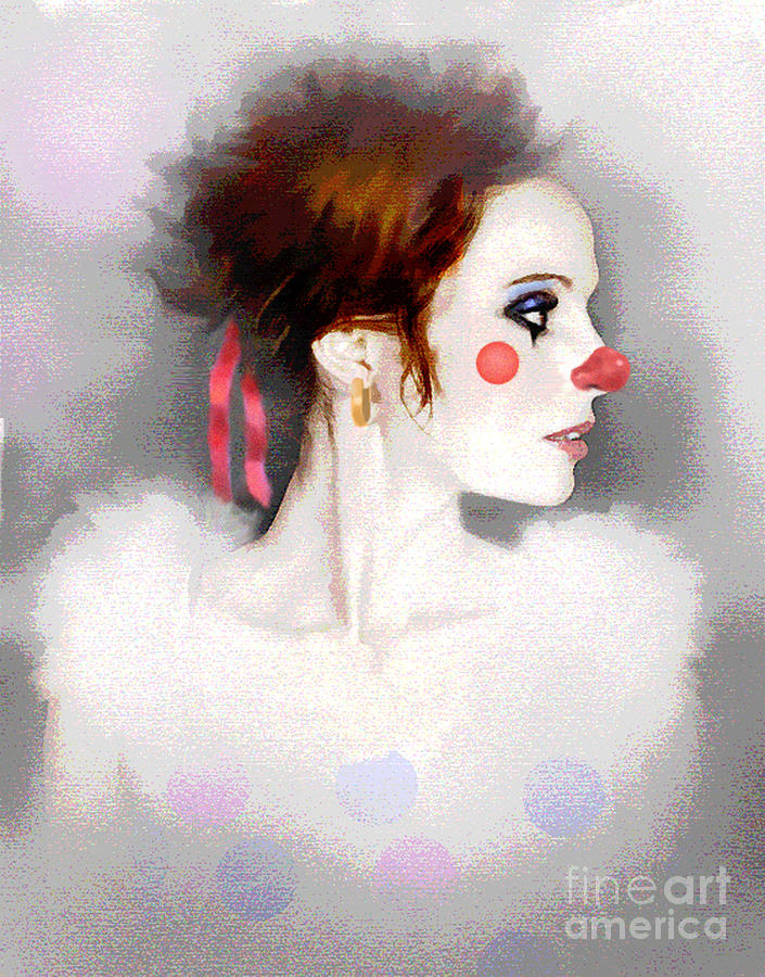 Lady Clown Painting  - Lady Clown Fine Art Print