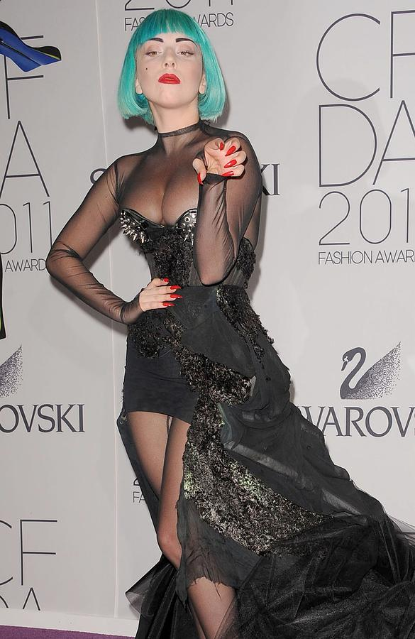 Lady Gaga At Arrivals For The 2011 Cfda Photograph