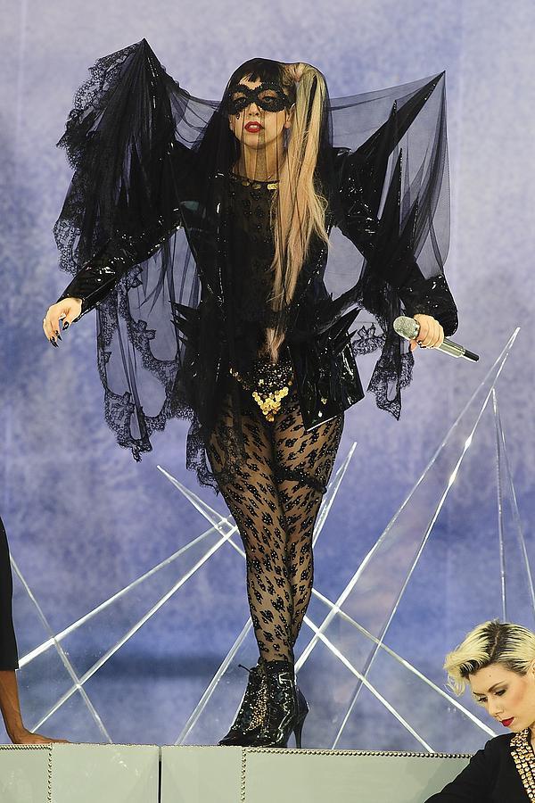 Lady Gaga At Talk Show Appearance Photograph