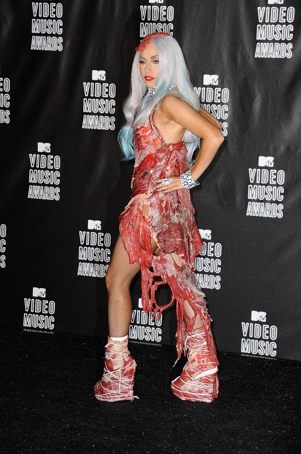 Lady Gaga In The Press Room For 2010 Photograph