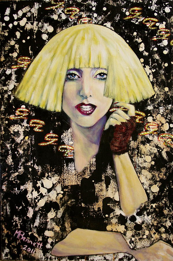 Lady Gaga Painting  - Lady Gaga Fine Art Print