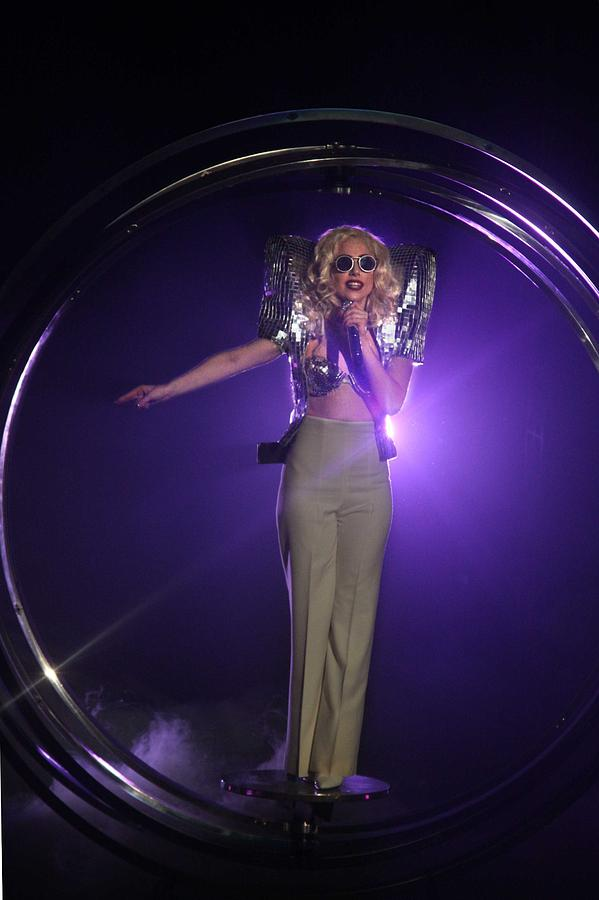 Lady Gaga On Stage For Lady Gaga Live Photograph