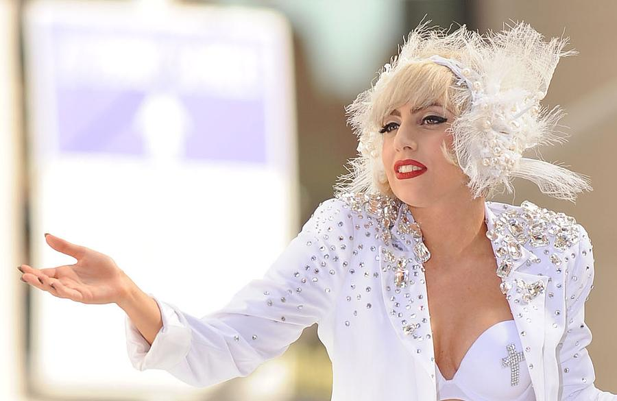 Lady Gaga On Stage For Nbc Today Show Photograph