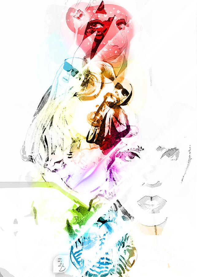 Lady Gaga Digital Art  - Lady Gaga Fine Art Print