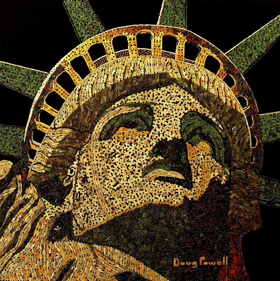 Lady Liberty Mixed Media  - Lady Liberty Fine Art Print