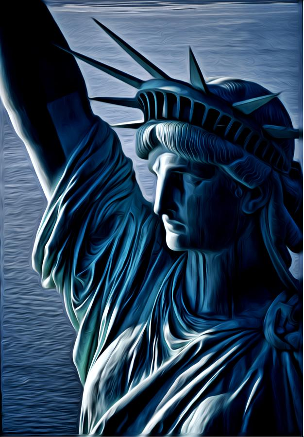 Lady Liberty Digital Art  - Lady Liberty Fine Art Print