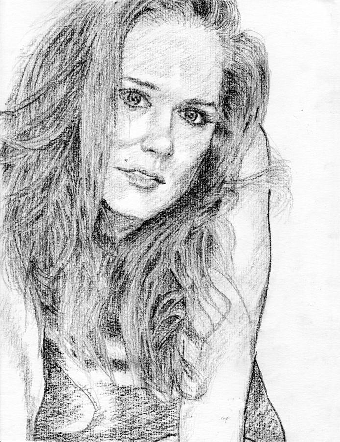 Lady pencil portrait drawing