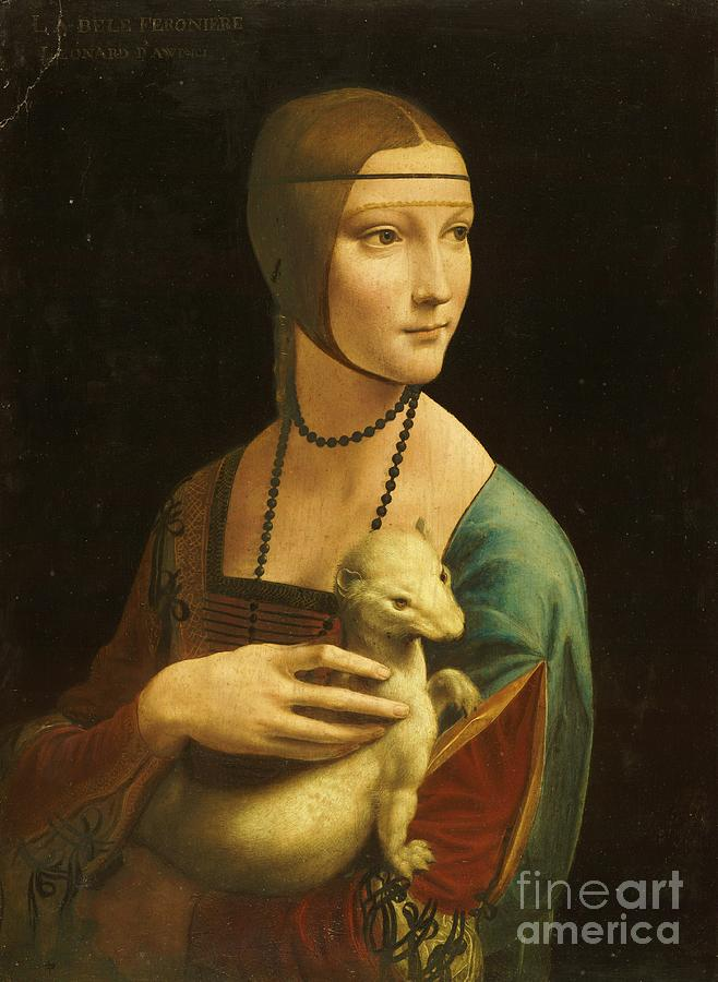 Lady With Ermine Painting