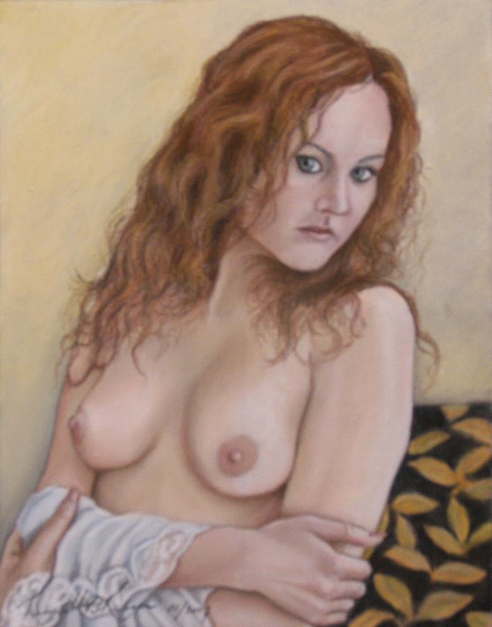 Lady With Red Hair Painting