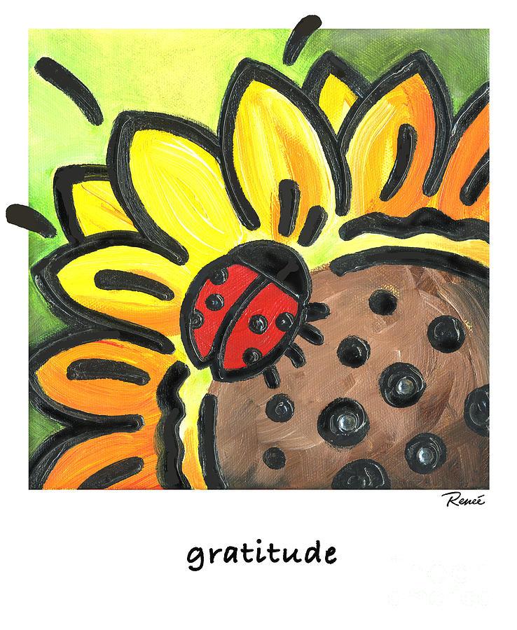 Ladybug Gratitude Painting