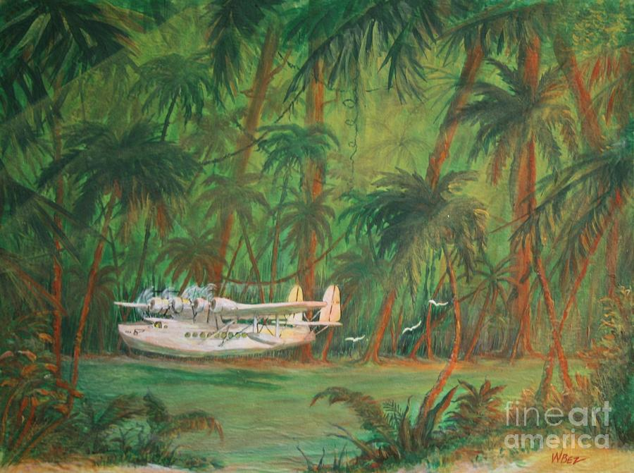 Lagoon Landing Painting