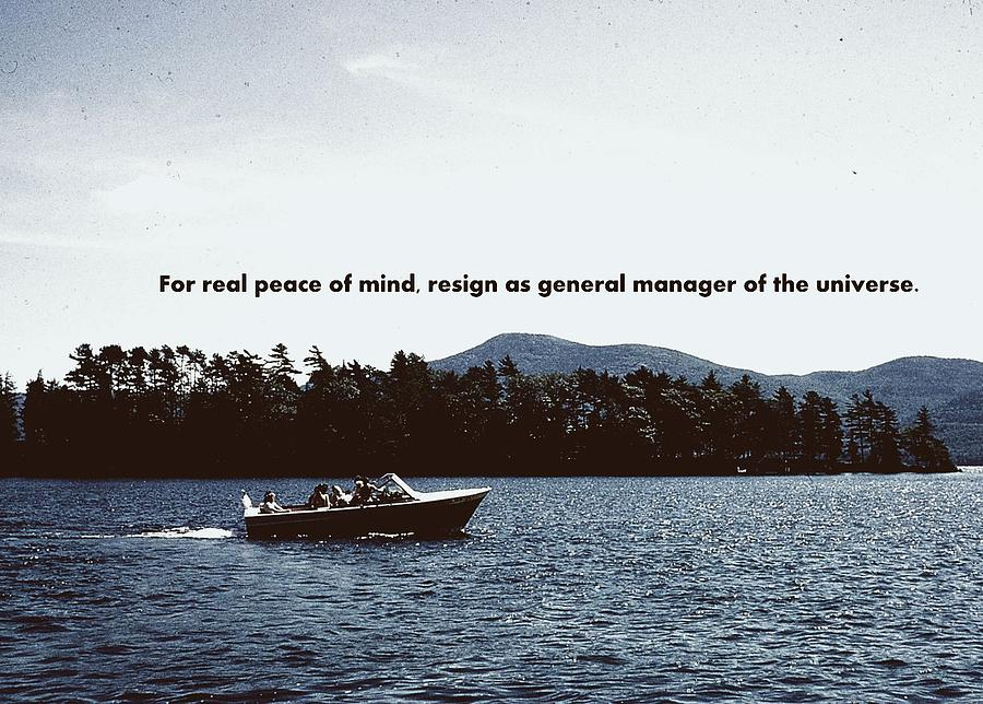 Lake Cruise Quote Photograph  - Lake Cruise Quote Fine Art Print