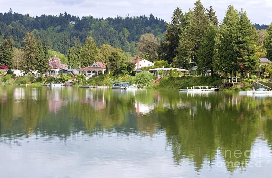 Lake Front Properties Woodland Wa Photograph By Gino Rigucci