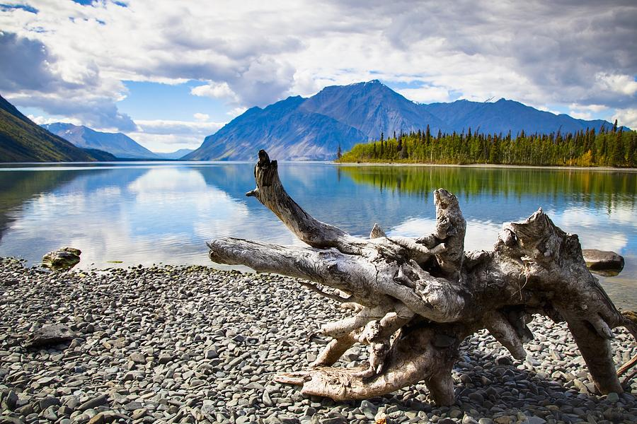 Beauty In Nature Photograph - Lake Kathleen In Kluane National Park by Blake Kent