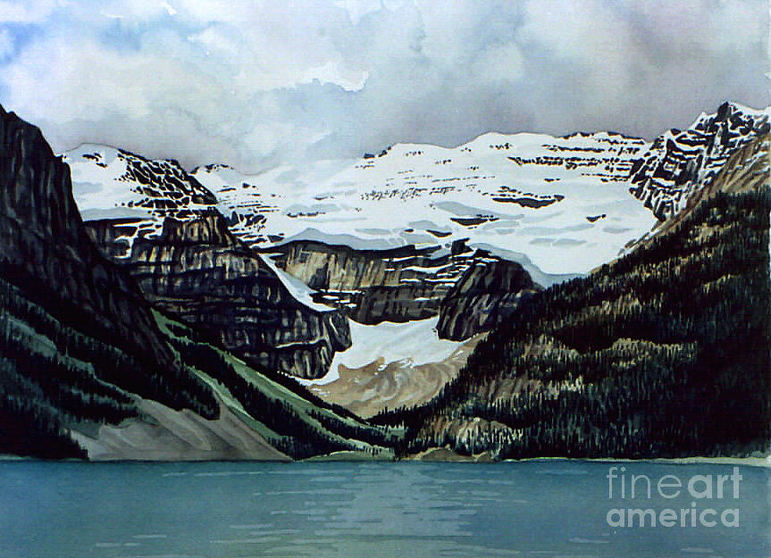 Lake Louise Painting  - Lake Louise Fine Art Print