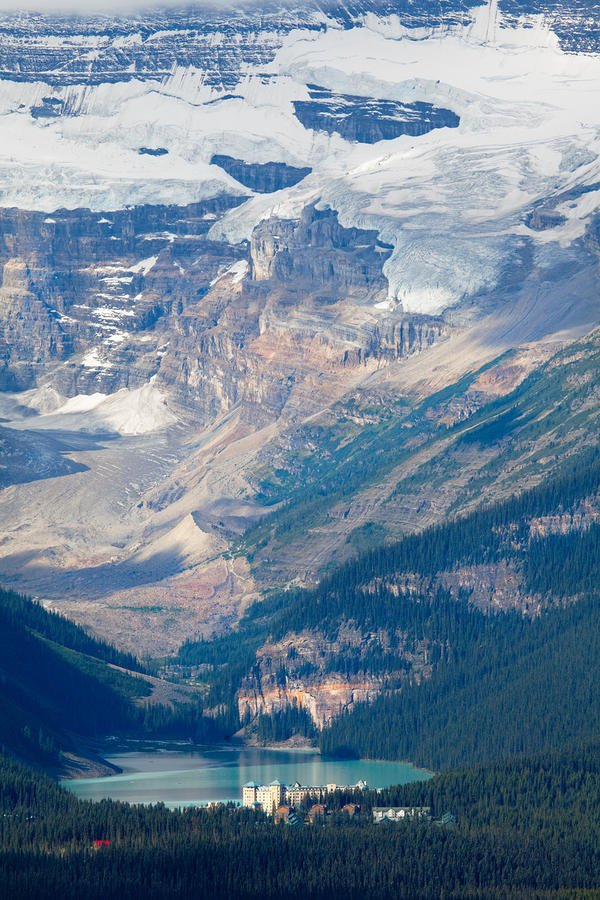 Lake Louise With The Victoria Glacier Photograph
