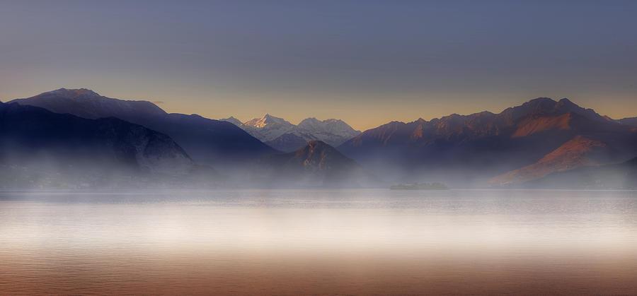 Lago Maggiore Photograph - Lake Maggiore And Alps by Joana Kruse