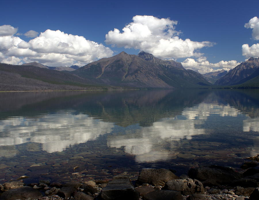 Lake Mcdonald Reflection Glacier National Park Photograph