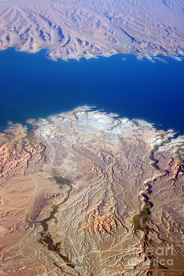 Lake Mead Nevada Aerial Photograph  - Lake Mead Nevada Aerial Fine Art Print