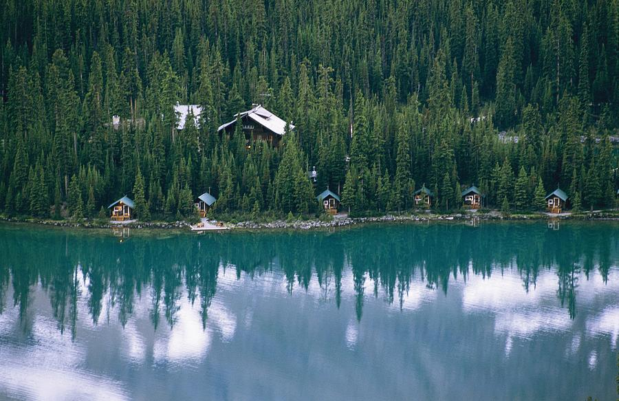 Lake Ohara Lodge And Cabins Photograph  - Lake Ohara Lodge And Cabins Fine Art Print