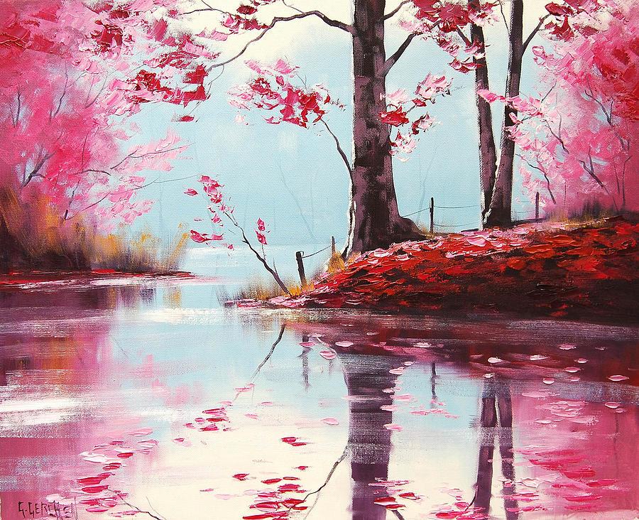Fall Painting - Lake Reflections by Graham Gercken