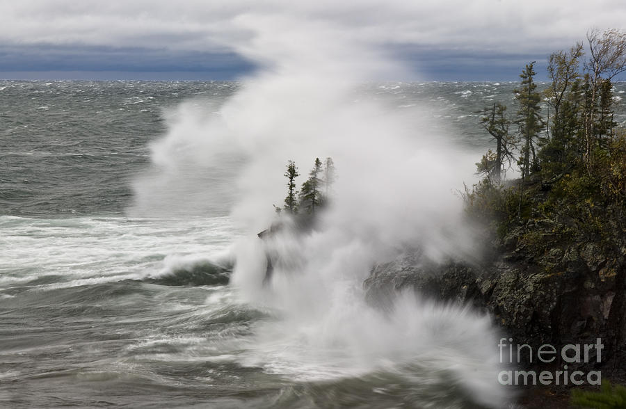 Lake Superior - Spray Photograph  - Lake Superior - Spray Fine Art Print