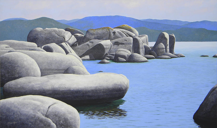 Lake Tahoe Rocky Cove Painting  - Lake Tahoe Rocky Cove Fine Art Print