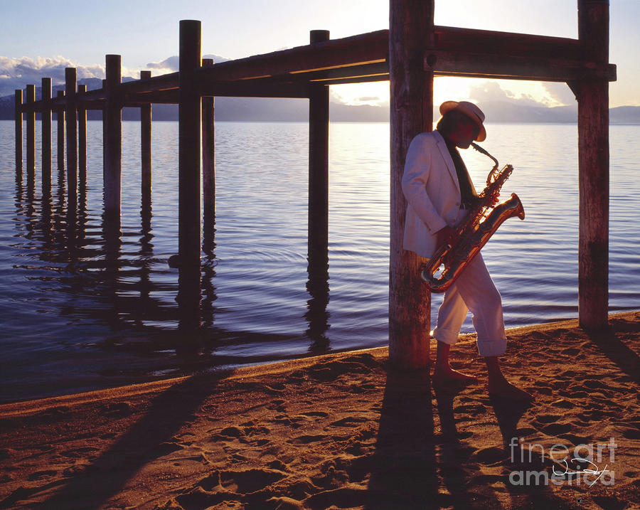 Lake Tahoe Sax Photograph  - Lake Tahoe Sax Fine Art Print