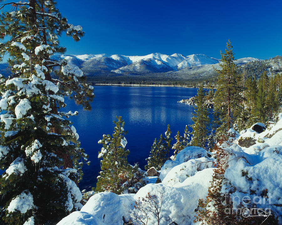 Lake Tahoe Winter Photograph