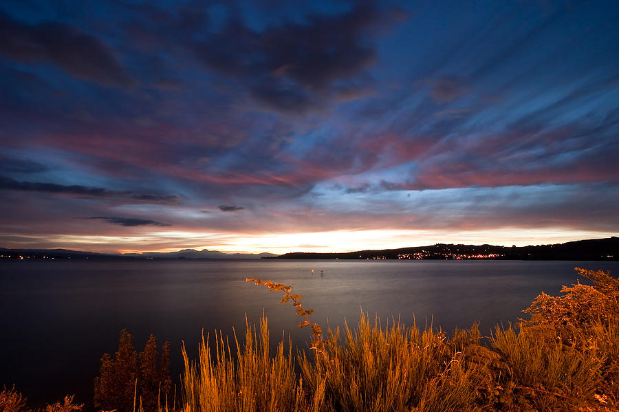 Lake Taupo Sunset Photograph
