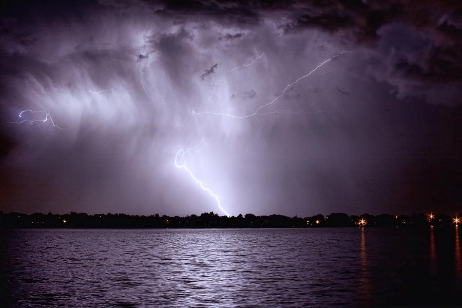 Lake Thunderstorm Photograph  - Lake Thunderstorm Fine Art Print